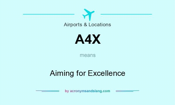 What does A4X mean? It stands for Aiming for Excellence