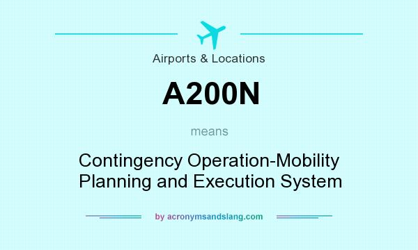 What does A200N mean? It stands for Contingency Operation-Mobility Planning and Execution System