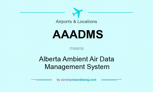 What does AAADMS mean? It stands for Alberta Ambient Air Data Management System