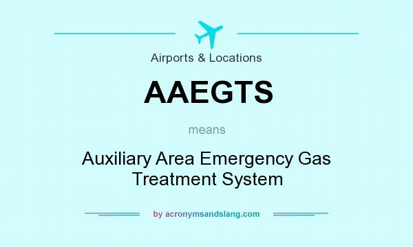What does AAEGTS mean? It stands for Auxiliary Area Emergency Gas Treatment System