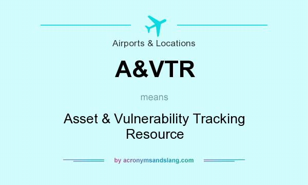 What does A&VTR mean? It stands for Asset & Vulnerability Tracking Resource