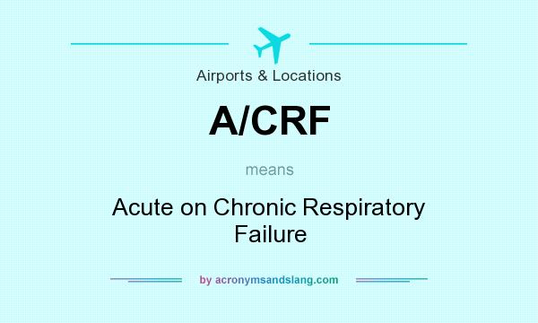 What does A/CRF mean? It stands for Acute on Chronic Respiratory Failure