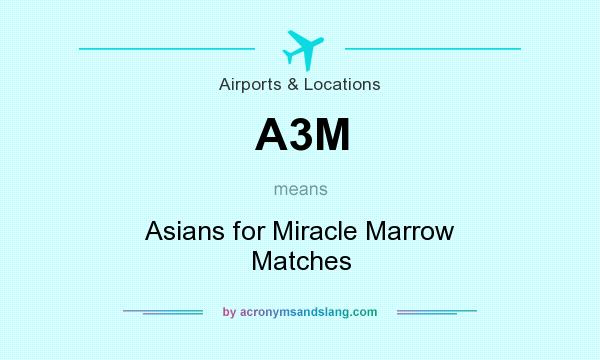 What does A3M mean? It stands for Asians for Miracle Marrow Matches