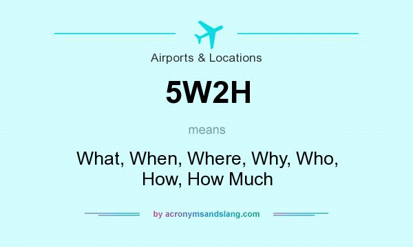 What does 5W2H mean? It stands for What, When, Where, Why, Who, How, How Much