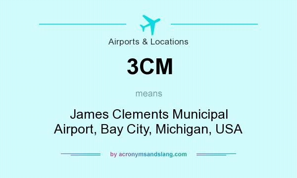 What does 3CM mean? It stands for James Clements Municipal Airport, Bay City, Michigan, USA