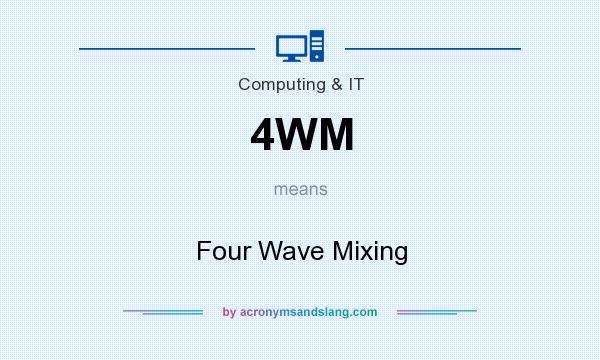What does 4WM mean? It stands for Four Wave Mixing