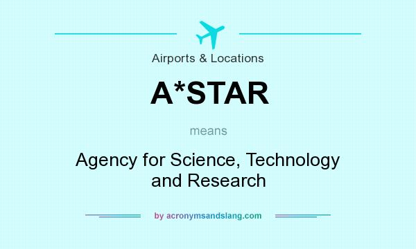 What does A*STAR mean? It stands for Agency for Science, Technology and Research