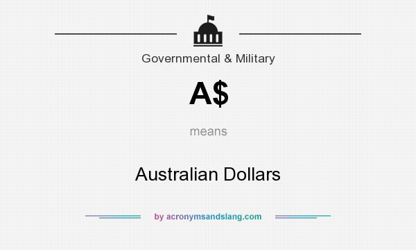 What does A$ mean? It stands for Australian Dollars
