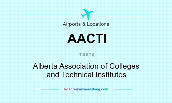 What does AACTI mean? It stands for Alberta Association of Colleges and Technical Institutes