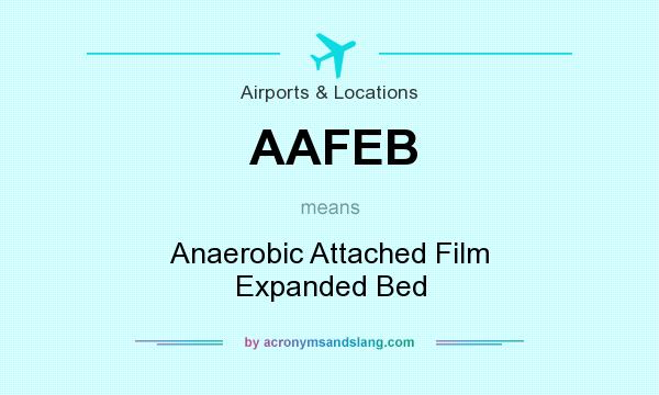 What does AAFEB mean? It stands for Anaerobic Attached Film Expanded Bed