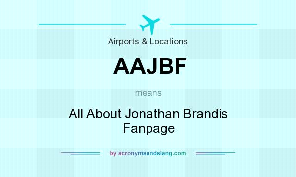 What does AAJBF mean? It stands for All About Jonathan Brandis Fanpage