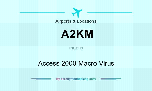 What does A2KM mean? It stands for Access 2000 Macro Virus
