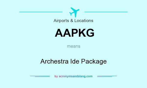 What does AAPKG mean? - Definition of AAPKG