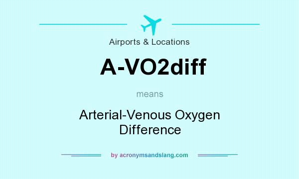 What does A-VO2diff mean? It stands for Arterial-Venous Oxygen Difference