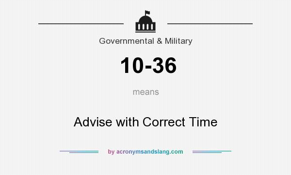 What does 10-36 mean? It stands for Advise with Correct Time