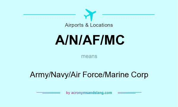 What does A/N/AF/MC mean? It stands for Army/Navy/Air Force/Marine Corp