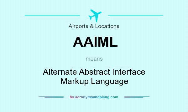 What does AAIML mean? It stands for Alternate Abstract Interface Markup Language