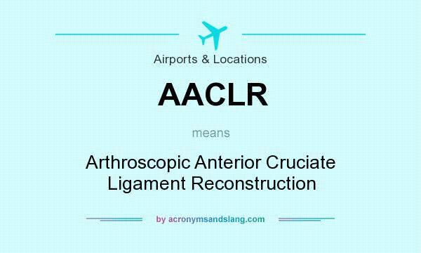 What does AACLR mean? It stands for Arthroscopic Anterior Cruciate Ligament Reconstruction