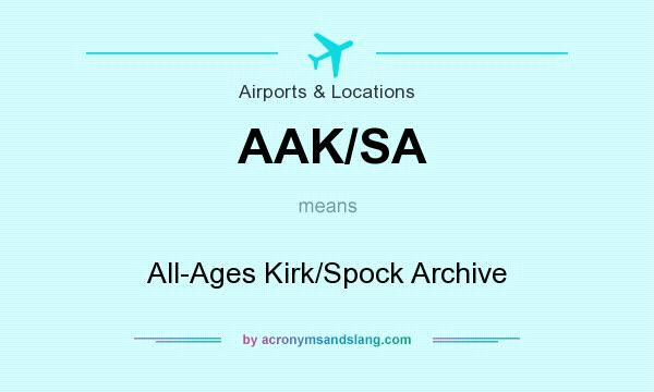 What does AAK/SA mean? It stands for All-Ages Kirk/Spock Archive