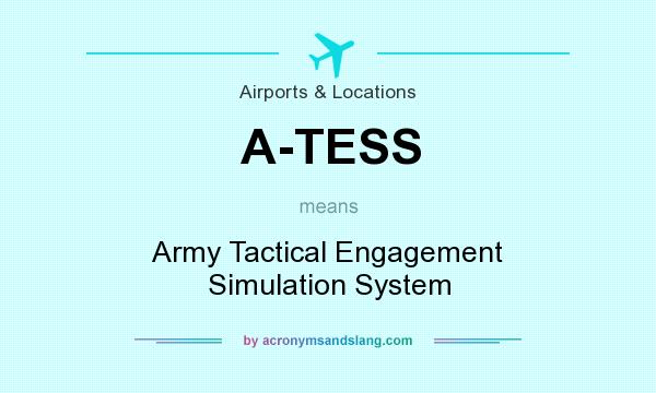 What does A-TESS mean? It stands for Army Tactical Engagement Simulation System