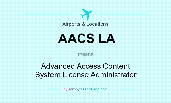 What does AACS LA mean? It stands for Advanced Access Content System License Administrator