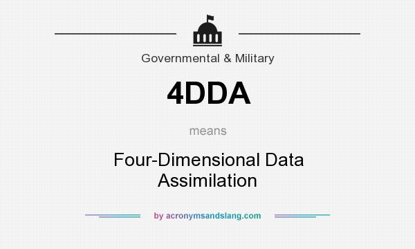 What does 4DDA mean? It stands for Four-Dimensional Data Assimilation