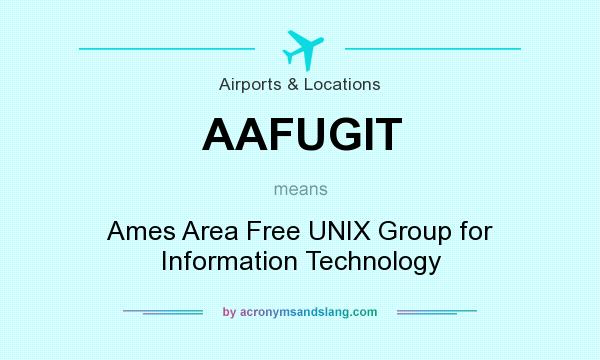 What does AAFUGIT mean? It stands for Ames Area Free UNIX Group for Information Technology