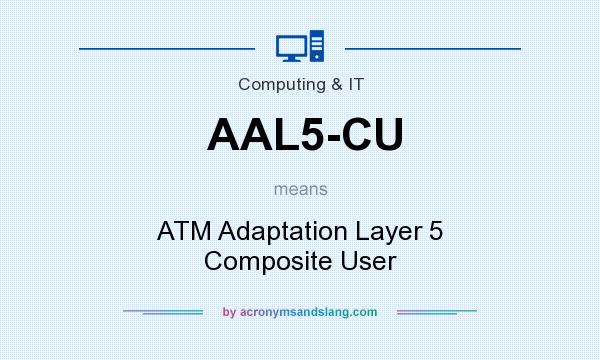 What does AAL5-CU mean? It stands for ATM Adaptation Layer 5 Composite User
