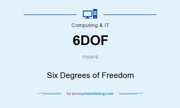 What does 6DOF mean? It stands for Six Degrees of Freedom