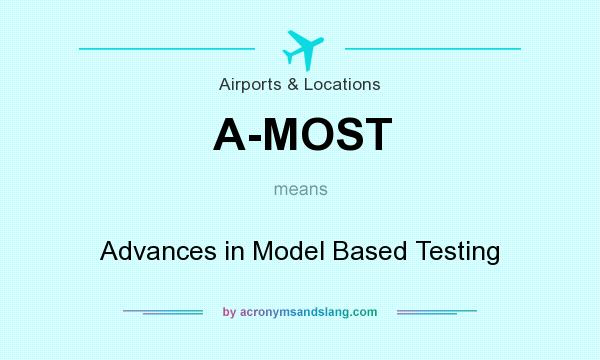 What does A-MOST mean? It stands for Advances in Model Based Testing