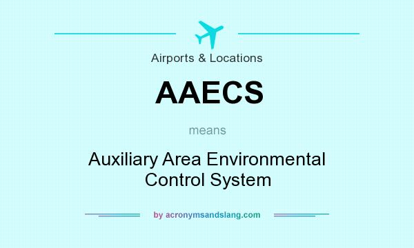 What does AAECS mean? It stands for Auxiliary Area Environmental Control System