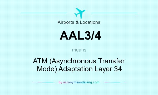 What does AAL3/4 mean? It stands for ATM (Asynchronous Transfer Mode) Adaptation Layer 34