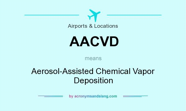 What does AACVD mean? It stands for Aerosol-Assisted Chemical Vapor Deposition