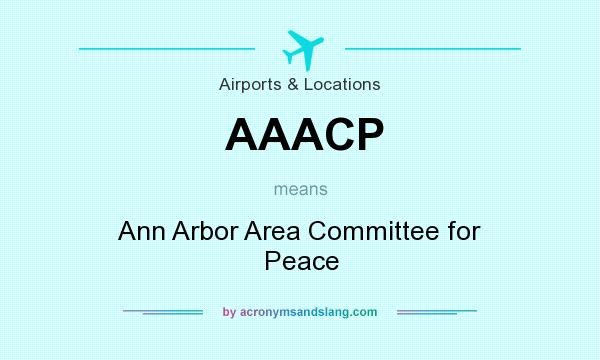 What does AAACP mean? It stands for Ann Arbor Area Committee for Peace