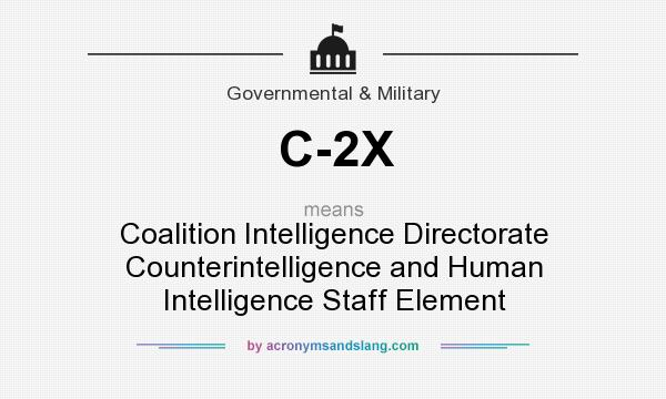 What does C-2X mean? It stands for Coalition Intelligence Directorate Counterintelligence and Human Intelligence Staff Element