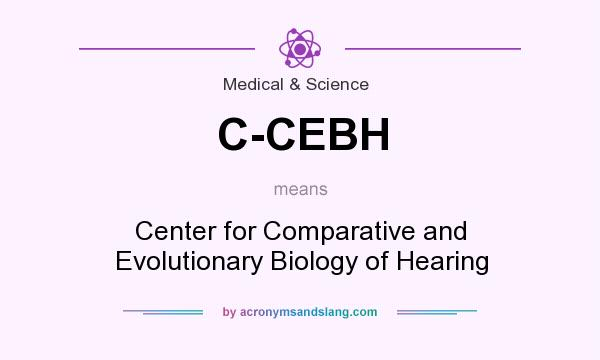 What does C-CEBH mean? It stands for Center for Comparative and Evolutionary Biology of Hearing
