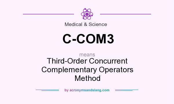 What does C-COM3 mean? It stands for Third-Order Concurrent Complementary Operators Method