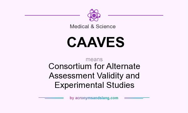 What does CAAVES mean? It stands for Consortium for Alternate Assessment Validity and Experimental Studies