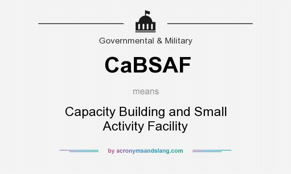What does CaBSAF mean? It stands for Capacity Building and Small Activity Facility
