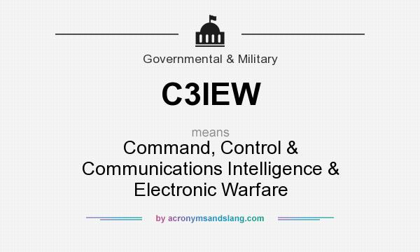 What does C3IEW mean? It stands for Command, Control & Communications Intelligence & Electronic Warfare