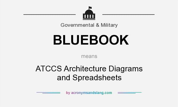 What does BLUEBOOK mean? It stands for ATCCS Architecture Diagrams and Spreadsheets