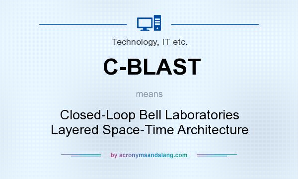 What does C-BLAST mean? It stands for Closed-Loop Bell Laboratories Layered Space-Time Architecture