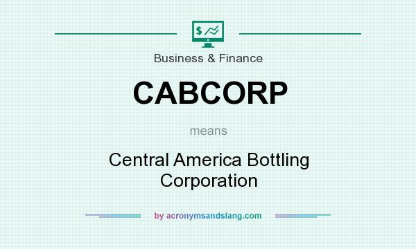 What does CABCORP mean? It stands for Central America Bottling Corporation