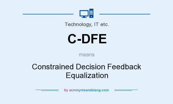 What does C-DFE mean? It stands for Constrained Decision Feedback Equalization