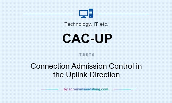 What does CAC-UP mean? It stands for Connection Admission Control in the Uplink Direction