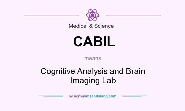 What does CABIL mean? It stands for Cognitive Analysis and Brain Imaging Lab