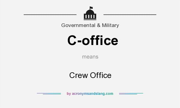 What does C-office mean? It stands for Crew Office
