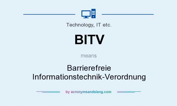 What does BITV mean? It stands for Barrierefreie Informationstechnik-Verordnung
