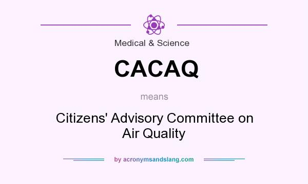 What does CACAQ mean? It stands for Citizens` Advisory Committee on Air Quality