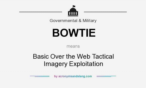 What does BOWTIE mean? It stands for Basic Over the Web Tactical Imagery Exploitation
